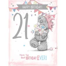Happy Birthday 21st Large Me to You Bear Birthday Card