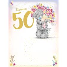 Fabulous 50th Large Me to You Bear Birthday Card