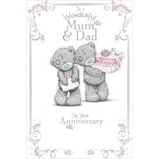 Mum & Dad Me to You Bear Anniversary Card