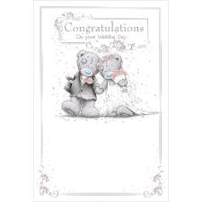 Congratulations Me To You Bear Wedding Day Card