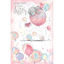 Lovely Sister Me To You Bear Birthday Card