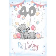 40th Birthday Wishes Me to You Bear Card