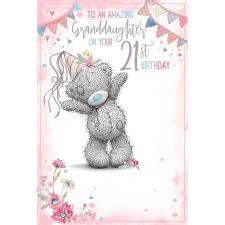 Granddaughter 21st Me To You Bear Birthday Card