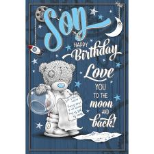 Son Me to You Bear Birthday Card