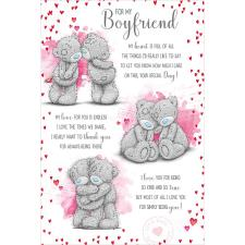 Boyfriend Verse Me to You Bear Birthday Card