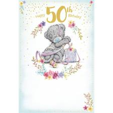 50th Birthday Present Me to You Bear Card