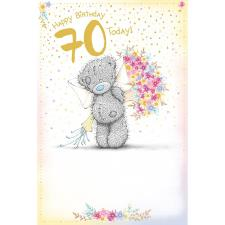 70 Today Me to You Bear 70th Birthday Card