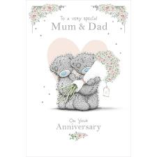 Special Mum & Dad Me to You Bear Anniversary Card