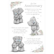 On Our Anniversary Poem Me to You Bear Anniversary Card