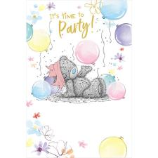 Time To Party Me to You Bear Birthday Card