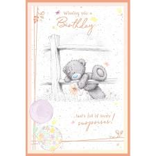 Birthday Surprises Me to You Bear Birthday Card