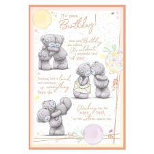 It's Your Birthday Verse Me to You Bear Birthday Card