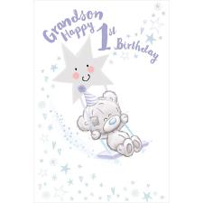 Grandson 1st Birthday Tiny Tatty Teddy Me to You Bear Birthday Card