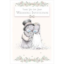 Wedding Thank You Invitation Me to You Bear Card