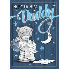 Daddy Bear In Space Suit Me to You Bear Birthday Card