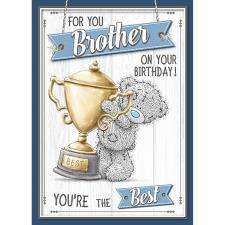 For You Brother Me to You Bear Birthday Card
