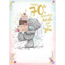 Happy 70th Me to You Bear Birthday Card