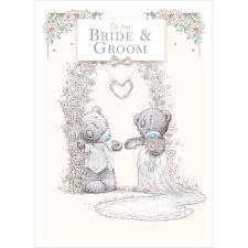 Bride & Groom Me to You Bear Wedding Day Card