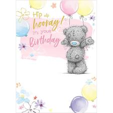 Hip Hip Hooray Me to You Bear Birthday Card