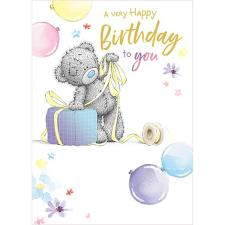 Tatty Teddy Wrapping Present Me to You Bear Birthday Card