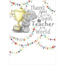Thank You Best Teacher Me to You Bear Card