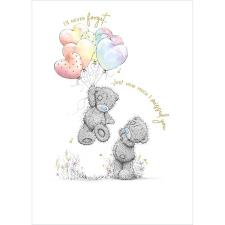 Bears Holding Heart Balloons Me to You Bear Card