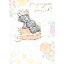 Bear Sat On Gift Me to You Bear Birthday Card