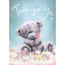 Thinking Of You Softly Drawn Me To You Bear Card