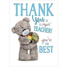 Thank You Super Teacher Me To You Bear Card