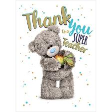 Thank You to a Super Teacher Me to You Bear Card
