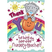 Thank You Nursery Teacher My Dinky Me to You Bear Card