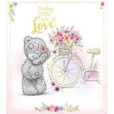 Sending Love Bear With Bicycle Me to You Bear Card