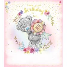 Tatty Teddy Holding Rosette Me to You Bear Birthday Card