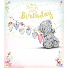 Tatty Teddy Hanging Bunting Me to You Bear Birthday Card