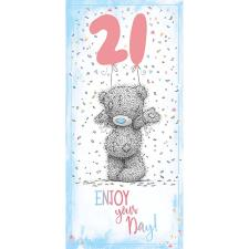 21st Birthday Me To You Bear Card