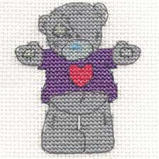 Hug Me Me to You Bear Mini Cross Stitch Kit