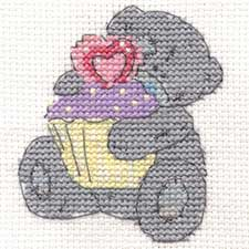Cute Cupcake Me to You Bear Mini Cross Stitch Kit