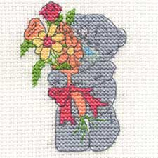Just For You Me to You Bear Mini Cross Stitch Kit