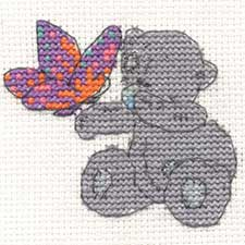 Beautiful Butterfly Me to You Bear Mini Cross Stitch Kit