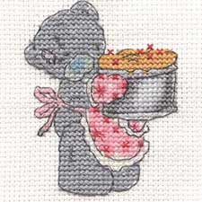 Time to Bake Me to You Bear Mini Cross Stitch Kit