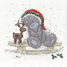 Friends In The Snow Me to You Bear Cross Stitch Kit