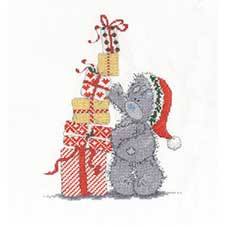 Christmas Presents Me to You Bear Cross Stitch Kit