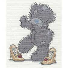Mums Shoes Me to You Bear Cross Stitch Kit