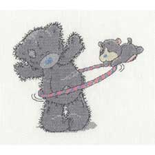 Hula Hoop Me to You Bear Cross Stitch Kit
