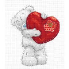 Giant Heart Me to You Bear Cross Stitch Kit