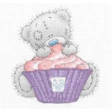 Giant Cupcake Me to You Bear Cross Stitch Kit