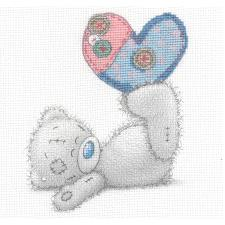 Patchwork Heart Me to You Bear Cross Stitch Kit