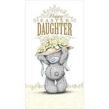 Daughter Me to You Bear Easter Card