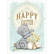 Box of Daffodils Me to You Bear Easter Card