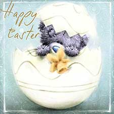 Happy Easter Square Me to You Bear Easter Card